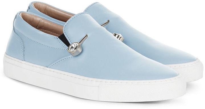 5071c13517ce ... Coliac Light Blue Leather Veronica Sneakers ...