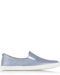 Women's Light Blue Slip-on Sneakers by