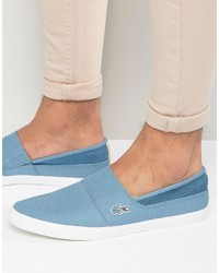 Light Blue Slip-on Sneakers by Lacoste