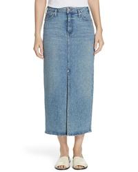 Proenza Schouler Slit Seam Denim Midi Skirt