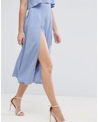 298d3ade1173 Asos Crop Top Thigh Split Midi Dress, $83 | Asos | Lookastic.com