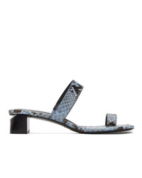 Alexander Wang White Snake Ellis Heeled Sandals