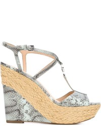 MICHAEL Michael Kors Michl Michl Kors Snakeskin Effect Wedge Sandals