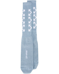Off-White Light Blue Triple Arrow Socks