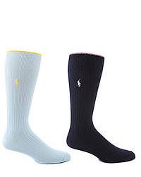 Polo Ralph Lauren Tipped Rib Crew Socks 2 Pack