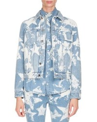 Givenchy Bleached Stars Denim Jacket Light Blue