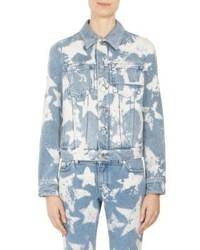 Givenchy Star Bleached Denim Jacket