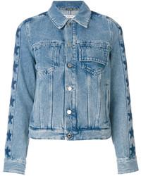 Givenchy Star Trim Denim Jacket