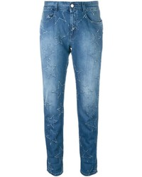 Light Blue Star Print Jeans
