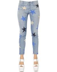 Skinny stars print stretch denim jeans medium 1351922