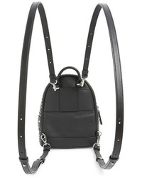 ... MCM X Mini Stark Bebe Boo Studded Leather Backpack Black ... 84678e610311d