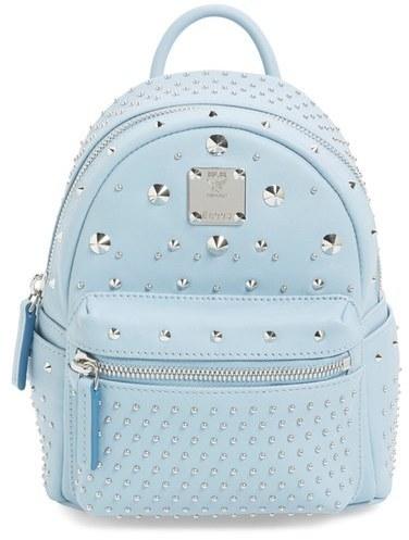 ... Light Blue Star Print Leather Backpacks MCM X Mini Stark Bebe Boo  Studded Leather Backpack Black ... 87dfbce7a2881
