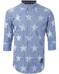 GUILD PRIME Star Print Checked Shirt