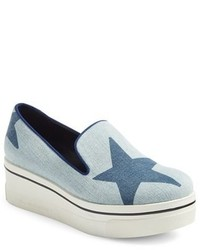 Stella McCartney Binx Star Slip On Platform Sneaker