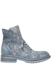 Fru.it 30mm Studded Metallic Suede Ankle Boots