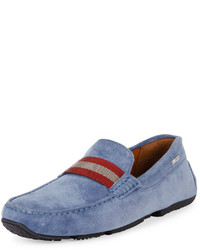 Light Blue Suede Driving Shoes