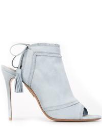 Aquazzura Tassel Detail Heeled Sandals