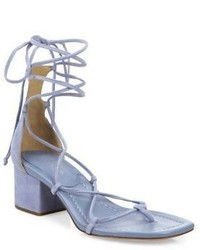 Michael Kors Michl Kors Collection Ayers Suede Lace Up Block Heel Sandals