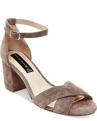 5e5aaf98595 Steven By Steve Madden Voomme Ankle Strap Block Heel Dress Sandals ...