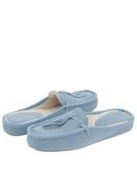 e162e244c8a Light Blue Suede Loafers for Women