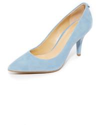Women's Light Blue Suede Pumps by