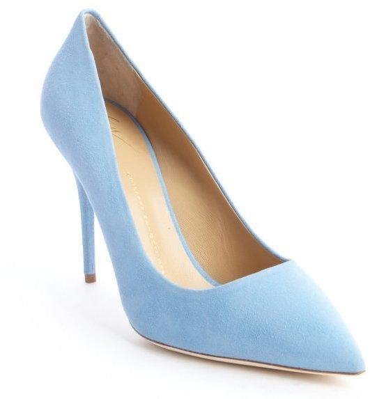 93 light blue suede heels