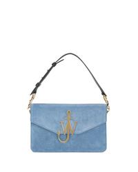 Light Blue Suede Satchel Bag