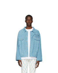 Off-White Blue Suede Taft Point Jacket