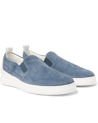 Dunhill Radial Spoiler Suede Slip On Sneakers