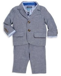 Andy & Evan Babys Two Piece Linen Blend Suit