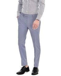 Banana Republic Modern Slim Blue Cotton Suit Trouser