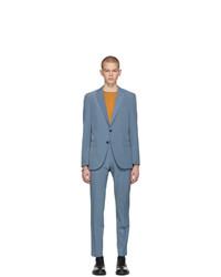 BOSS Blue Slim Noval And Ben Suit