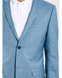 d908bbbb232a Topman Light Blue Textured Skinny Fit Suit Jacket, $280 | Topman ...
