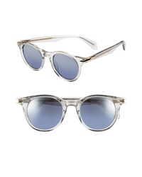 rag & bone 49mm Gradient Round Sunglasses