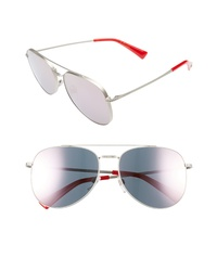 Valentino 56mm Aviator Sunglasses