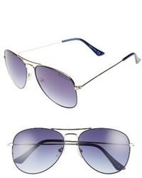 Draper James 58mm Gradient Aviator Sunglasses Blue