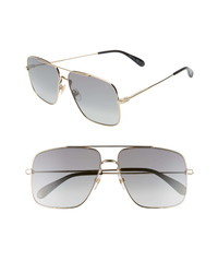 Givenchy 61mm Square Metal Sunglasses