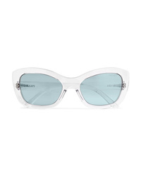 Prada Cat Eye Acetate Mirrored Sunglasses