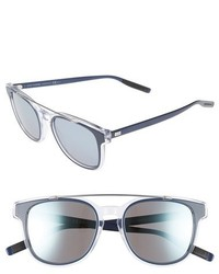 Christian Dior Dior Homme Black Tie 52mm Sunglasses Blue Crystal Palladium
