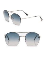 Tom Ford Eyewear Antonia 55mm Round Sunglasses