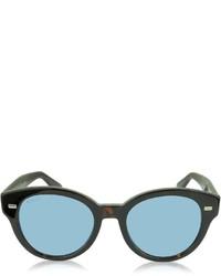 Gucci Gg 3745s Havana Acetate Round Frame Sunglasses