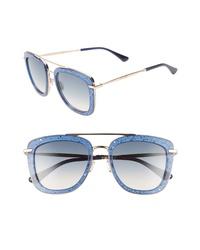 Jimmy Choo Glossy 53mm Square Sunglasses