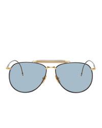 Thom Browne Gold Tb015 Sunglasses