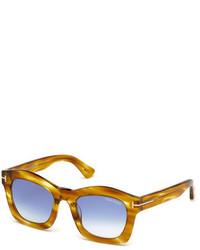 Tom Ford Greta Square Sunglasses Honey