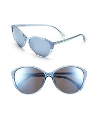 MICHAEL Michael Kors Michl Michl Kors Paige 58mm Sunglasses Crystal Blue Blue Flash One Size