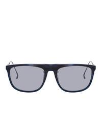 Issey Miyake Men Navy And Black Square 6 Sunglasses