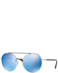 Valentino Rockloop Round Metal Sunglasses