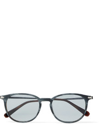 Brioni Round Frame Acetate And Ruthenium Sunglasses