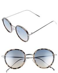 Round Sunglasses Tort Blue