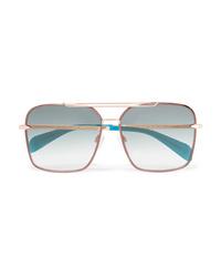 Rag & Bone Square Frame Gold Tone Sunglasses